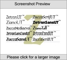 ZetronSansUT Family Mac program